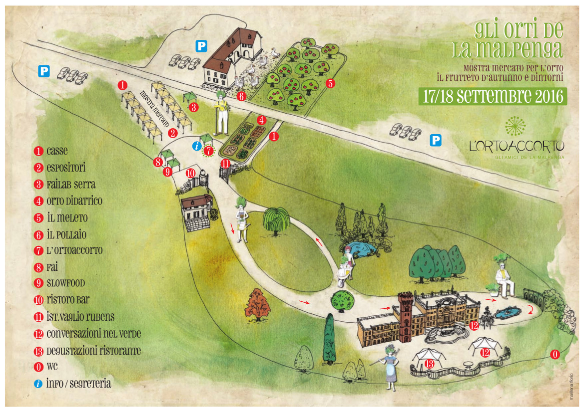 Mappa Gli Orti de La Malpenga 2016 - Mostra Mercato